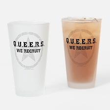 Q.U.E.E.R.S - We Recruit! Drinking Glass