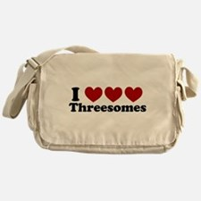 Heart Heart Heart 3somes Messenger Bag