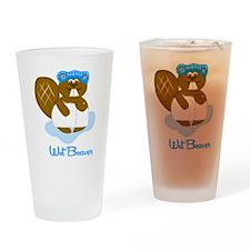 Wet Beaver Drinking Glass