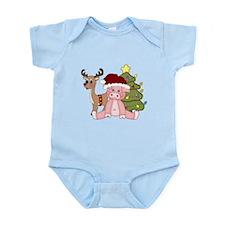 Christmas Pig Infant Bodysuit
