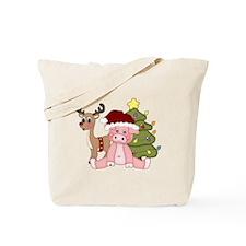 Christmas Pig Tote Bag