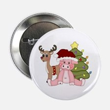 "Christmas Pig 2.25"" Button"