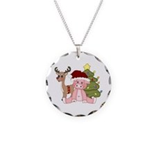 Christmas Pig Necklace