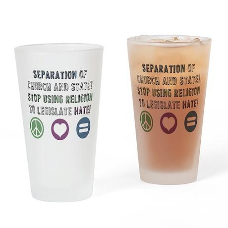 Stop Legislating Hate! Drinking Glass