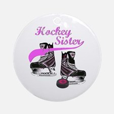 Hockey Sister Ornament (Round)