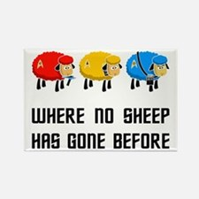 Where no Sheep Has Gone Rectangle Magnet
