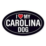Carolina dog Stickers