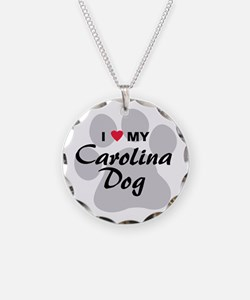 I Love My Carolina Dog Necklace
