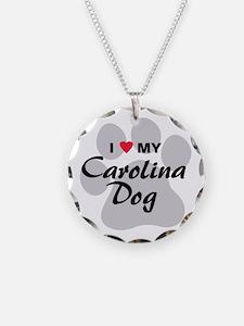 I Love My Carolina Dog Necklace