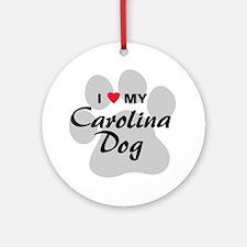 I Love My Carolina Dog Ornament (Round)