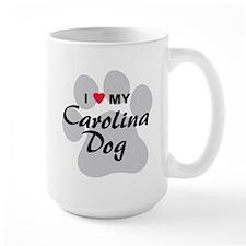 I Love My Carolina Dog Mug