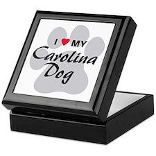I Love My Carolina Dog Keepsake Box