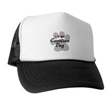 I Love My Carolina Dog Trucker Hat