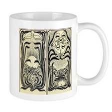 Art Nouveau Day Flowers Small Mug