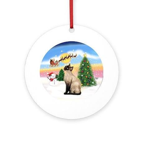 Take Off (1) & Siamese (CP) Ornament (Round)