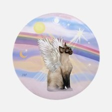 Siamese cat angel Ornament (Round)