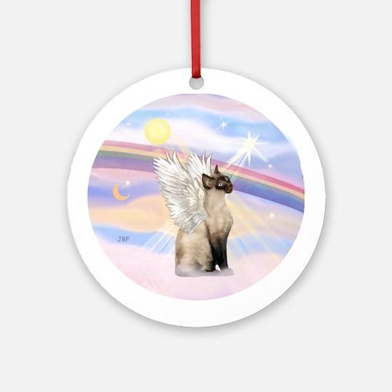 Siamese cat angel Ornament (Round)