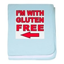 I'm With Gluten-Free baby blanket