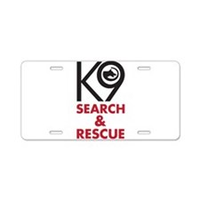 K9 Bold General S&R Aluminum License Plate