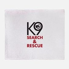 K9 Bold General S&R Throw Blanket
