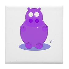 Cute Vintage hippo Tile Coaster