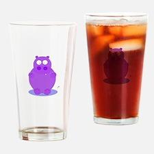 Unique Vintage hippo Drinking Glass