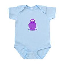 Cute Vintage hippo Infant Bodysuit