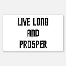 Live Long and Prosper Sticker (Rectangle)