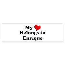 My Heart: Enrique Bumper Bumper Stickers