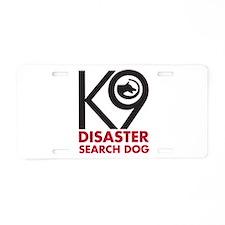 Disaster Dog Bold Aluminum License Plate