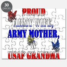 Army Wife Mother USAF Grandma Puzzle