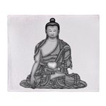 Meditating Buddha Throw Blanket