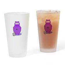 soccer hippo Drinking Glass