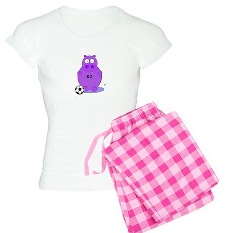 soccer hippo Women's Light Pajamas