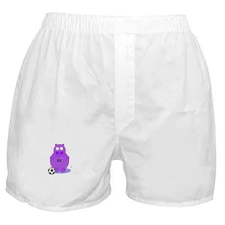 soccer hippo Boxer Shorts