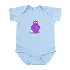 soccer hippo Infant Bodysuit