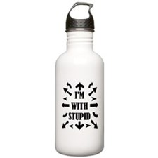 I'm With Stupid People Water Bottle