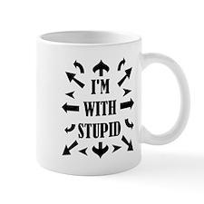I'm With Stupid People Mug