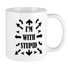 I'm With Stupid People Small Mug