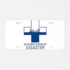 Disaster Crosses Aluminum License Plate