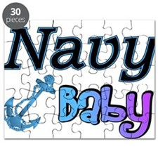 Navy Baby blue anchor Puzzle