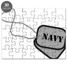Navy Heart Dog Tags Puzzle