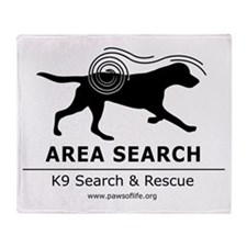 Area Search Throw Blanket