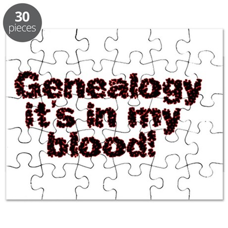 Genealogy it's in my blood Puzzle