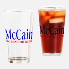 McCain for president 08 Drinking Glass