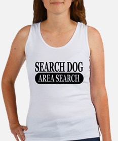 Black Area Search Dog Athleti Women's Tank Top