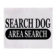 Black Area Search Dog Athleti Throw Blanket