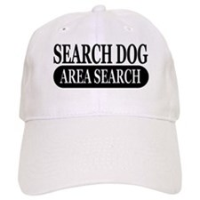 Black Area Search Dog Athleti Baseball Cap