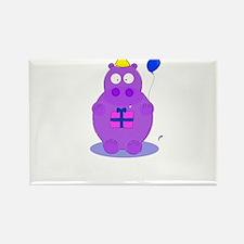 happy birthday hippo Rectangle Magnet