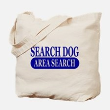 Blue Area Search Dog Athletic Tote Bag